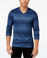 Alfani Men's Big and Tall Striped Long-Sleeve T-Shirt, Regular Fit