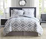 8 Piece Windbrook Stone/Denim Reversible Comforter Set King