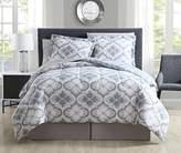 8 Piece Windbrook Stone/Denim Reversible Comforter Set Queen