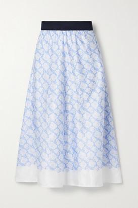 By Malene Birger Biella Floral-print Satin Midi Skirt
