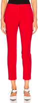 Rosetta Getty Stretch Cady Cropped Skinny Trousers