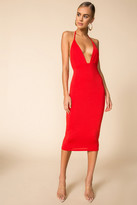superdown Plunging Midi Dress
