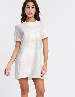 Bershka t-shirt dress in tie-dye