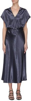 Vince Flutter sleeve metallic dress