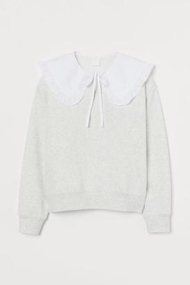 H&M Collared Sweatshirt - Gray