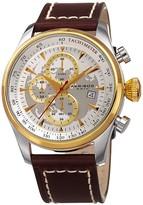 Akribos XXIV Men's Genuine Leather Watch