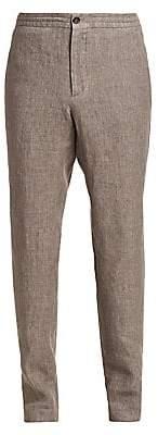 Ermenegildo Zegna Men's Linen Straight-Leg Trousers