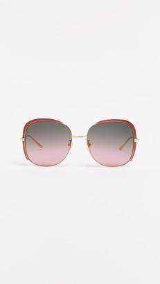 Gucci Oversized Embellished Square Shape Sunglasses