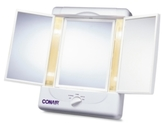 Conair TM7LX Double-Sided Lighted Makeup Mirror with 3 Panels and 4 Light Settings