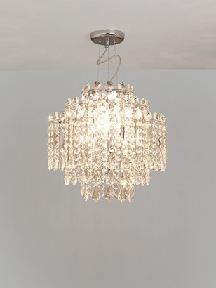 John Lewis & Partners Arabesque Crystal Chandelier Ceiling Light, Clear