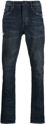 Purple Brand Mid-Rise Tapered Jeans