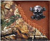 Genuine Texas Brand Custom Skull and Crossbones Realtree AP Wallet Bi-fold Wallet