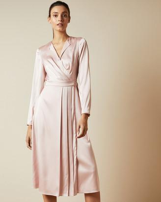 Ted Baker NEENHA Side wrap pleated dress