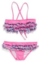 Pilyq Girl's Tassel Ruffle Two-Piece Swimsuit