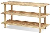 Furinno FNCJ-33003 Pine Solid Wood 3-Tier Shoe Rack, Natural