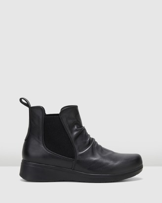 Hush Puppies Women's Black Flat Ankle Boots - The Boot - Size One Size, 9 at The Iconic