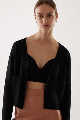 Cos Merino Wool Mix Clean Cut V-Neck Cardigan