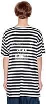 Yohji Yamamoto Striped Cotton Blend Jersey T-Shirt