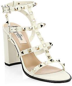 Valentino Women's Garavani Rockstud Cage Leather Sandals