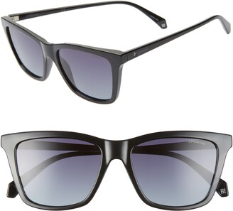 Polaroid 53mm Polarized Rectangular Sunglasses