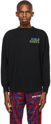 Palm Angels Black Hue Gothic Logo Long Sleeve T-Shirt