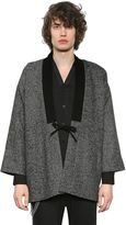 The Kooples Tweed Wool Jacket W/ Velvet Collar