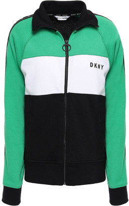 DKNY Color-block Cotton-blend Jacket