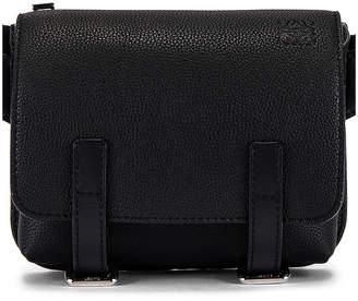 Loewe Military Bum Bag in Black   FWRD