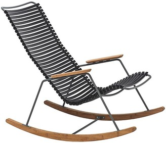 Ecc Lighting & Furniture Click Outdoor Rocking Chair Black