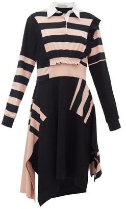 Preen Line Omisha Striped Cotton Rugby Dress - Womens - Black Pink