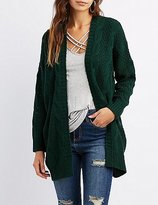Charlotte Russe Cable Knit Oversized Cardigan