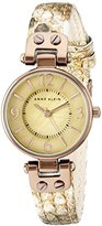 Anne Klein Women's 10/9443TMTN Tan Snake Patterned Leather Strap Watch