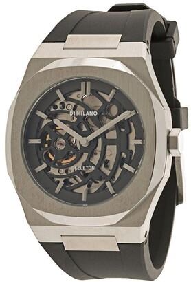 D1 Milano Skeleton Rubber 41.5mm watch