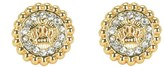 Juicy Couture Jet Set Coin Stud Earrings
