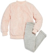 Splendid Girls' Sherpa Sweatshirt & Sweatpants Set