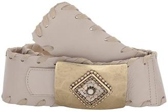 Leather Rock Myra Belt (Bone) Women's Belts