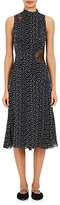 Proenza Schouler Women's Lace-Inset Silk Midi-Dress