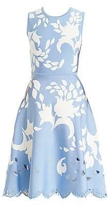 Carolina Herrera Women's Floral Cutout Midi Dress