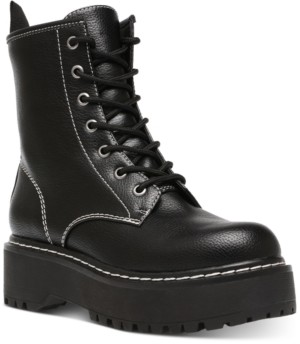 Wild Pair Rizo Combat Booties, Created for Macy's Women's Shoes