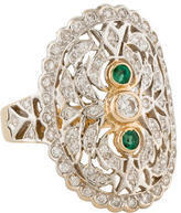 Ring 14K Diamond & Emerald