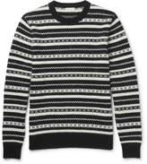 Saint Laurent - Fair Isle Jacquard-knit Mohair-blend Sweater