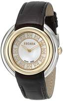 Escada Women's IWW-E2460034 Ivory Analog Display Swiss Quartz Black Watch