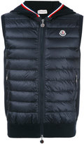 Moncler padded gilet - men - Cotton/Feather Down/Polyamide/Polyester - S