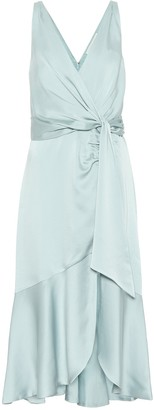 Jonathan Simkhai Mia satin wrap midi dress