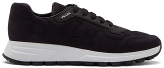 Prada Black Nubuck Sport Sneakers
