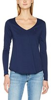 Tommy Jeans Hilfiger Denim Women's Thdw Basic VN Knit L/S 15 Long Sleeve Top