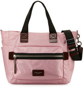 Marc Jacobs Biker Leather-Trim Nylon Babybag