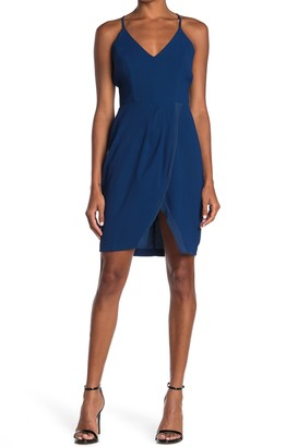 Adelyn Rae Grayson Surplice Mini Dress