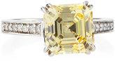 FANTASIA Canary CZ Asscher-Cut Ring