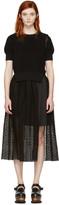 Sacai Black Dot Lace Dress